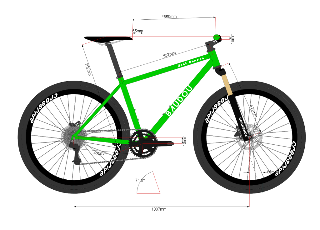 MTB BAUDOU Bikes 27.5 Bikecad