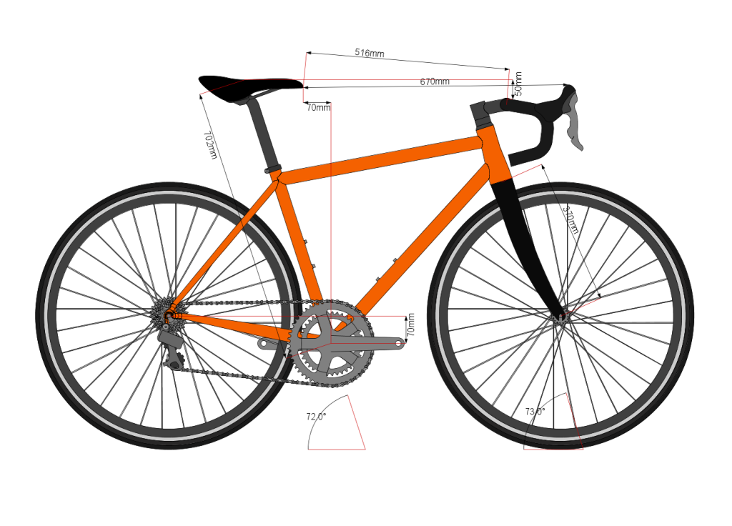 Vélo de course BAUDOU Bikes Bikecad